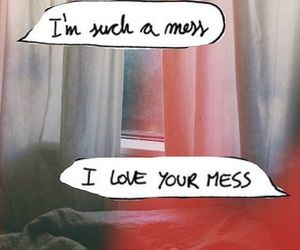 love, mess, and quote image