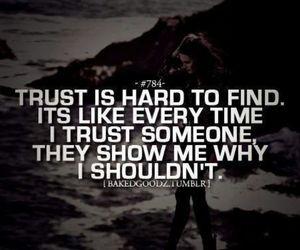 quote, sad, and trust image