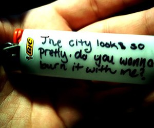 lighter, burn, and city image