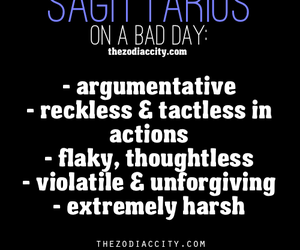 bad day, zodiac, and sagittarus image