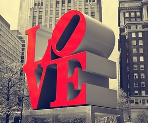 love, red, and city image