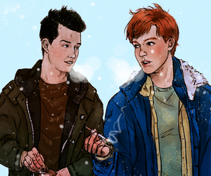 shameless, gallavich, and mickey image
