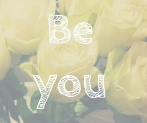 be, you, and flowers image