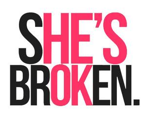 :O, broken, and broken heart image