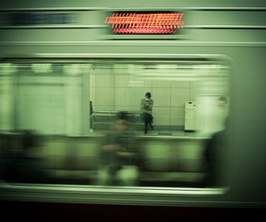 train, grunge, and subway image