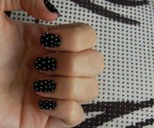 black, manicure, and studded image