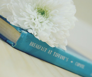 book, flower, and Breakfast at Tiffany's image