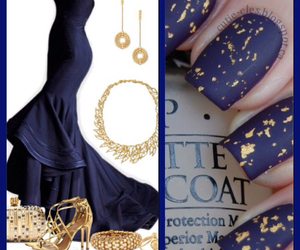 dress, nails, and gold image