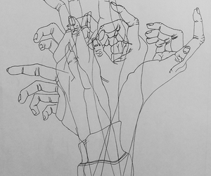 abstract, art, and hands image