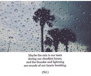 tears, rain, and quote image