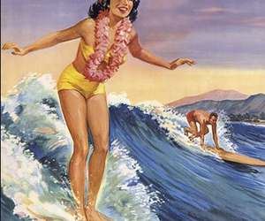 surf, vintage, and surfing image