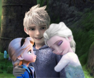 jack frost, jelsa, and luna frost image
