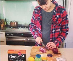 boyfriend, cooking, and kitchen image