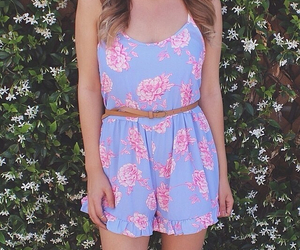 fashion, floral, and follow image