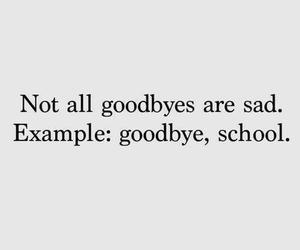 goodbye, school, and sad image