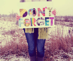 don't forget, forget, and winter image