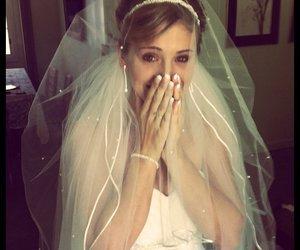 dress, wedding dress, and love image