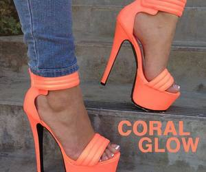 heels, shoes, and coral image