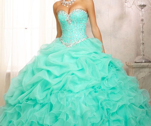 dress, green, and quince image