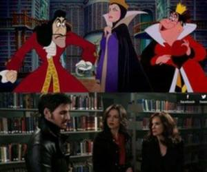 hook, once upon a time, and evil queen image