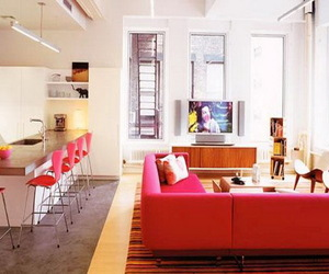 apartment, cool, and kitchen image