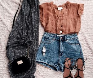 bag, cardigan, and outfit image