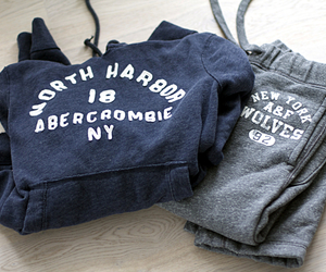 A&F, blue, and abercrombieandfitch image