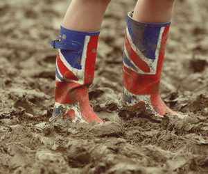 mud, boots, and england image