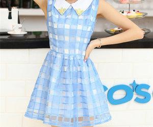 fashion, new arrivals, and blue plaid dress image