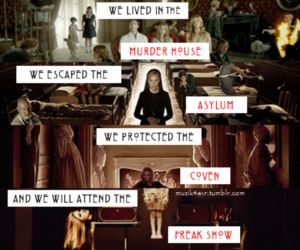 asylum, murder house, and coven image