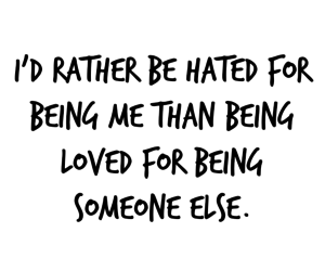 hated, loved, and quote image