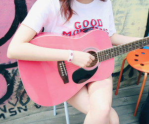beauty, guitar, and kstyle image