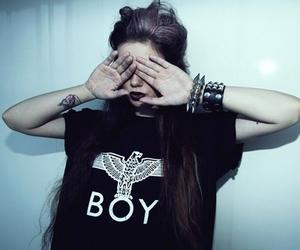 girl, boy, and grunge image