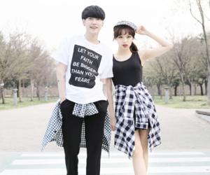 couple, korean, and kfashion image