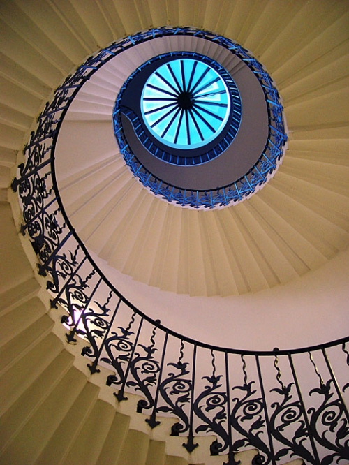 abstract, spiral, and staircase image