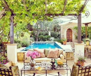 pool, garden, and decor image