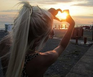 girl, heart, and summer image