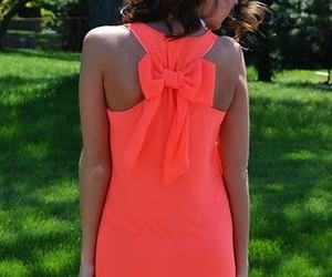 dress, bow, and neon image