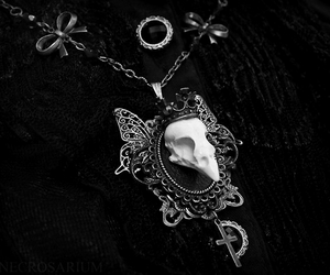necklace and black image