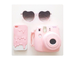 pink, sunglasses, and case image