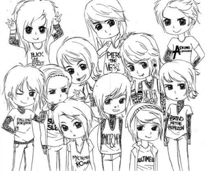 pierce the veil, black veil brides, and all time low image