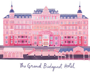 the grand budapest hotel, pink, and movie image