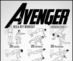 fitness, workout, and Avengers image