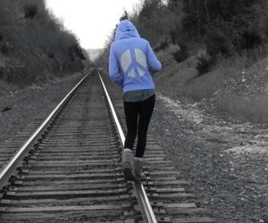 train tracks, on my way, and lovely photography image