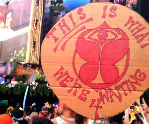 cardboard, festival, and sign image