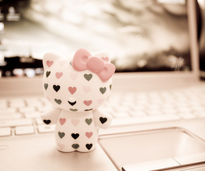 hello kitty, pink, and heart image