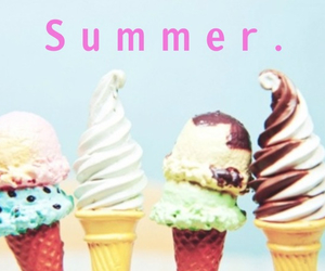 beach, color, and ice cream image