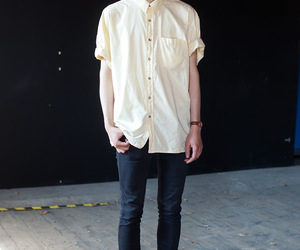 boy, button-up, and fashion image