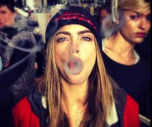 model, cara delevingne, and smoke image