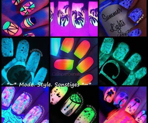 cute amazing and neon glow nails image